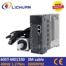 Lichuan 400w servomotor met driver kit 60st 01330 ac servo motor AC220V 3000rpm AC motor servo cnc voor cnc servo kit