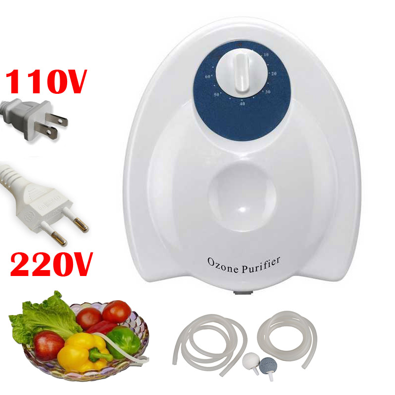 Portable 400mg/h 20W Fruit Food Ozone Generator Water Air Skin Sterilizer Ozone Purifier Ozonizer home Purification Massage portable activated ozone sterilizer generator purifier oxygen concentrate machine 400mg