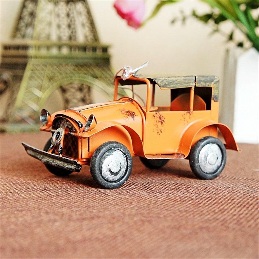 Ücretsiz kargo (3 adet / grup) Renkli mini retro araba modeli Eski - Ev Dekoru - Fotoğraf 3