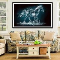 Youran 5d Diamond Mosaic Creative Horse Animal Simple Modern Nordic Art Wall Painting diy Full Drill Diamond Embroidery Decor