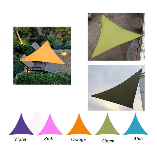 Triangle Sun Shelter Sunshade Protection Outdoor Canopy Garden Patio Pool Shade Sail Awning Camping Picnic Tent