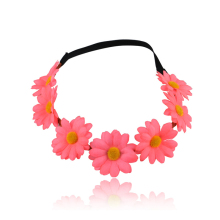 New Flower Headband for Women Hair Accessories New Wreath Headdress Festival Scrunchy Elastic Bride Floral Hair Garland ornament