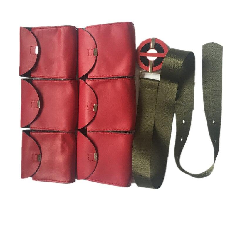 Hot sale Deadpool Cosplay Costume Accessories Deadpool Cosplay Sword Black Strap Sheath Deadpool Belt