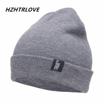 Letter True Casual Beanies for Men Women Fashion Knitted Winter Hat Solid Color Hip hop Skullies
