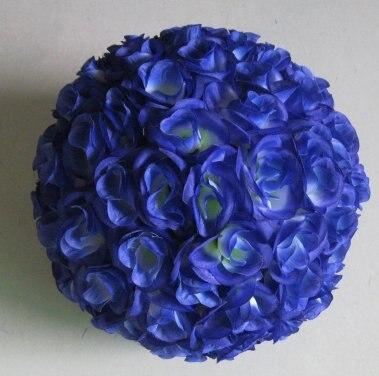 """SPR 20 ס""""מ מרכז פלסטיק חתונה משי נשיקות כדור, צבע בלו-אופציונלי, גודל אופציונלי, קישוט חגיגה כדור פרח"""