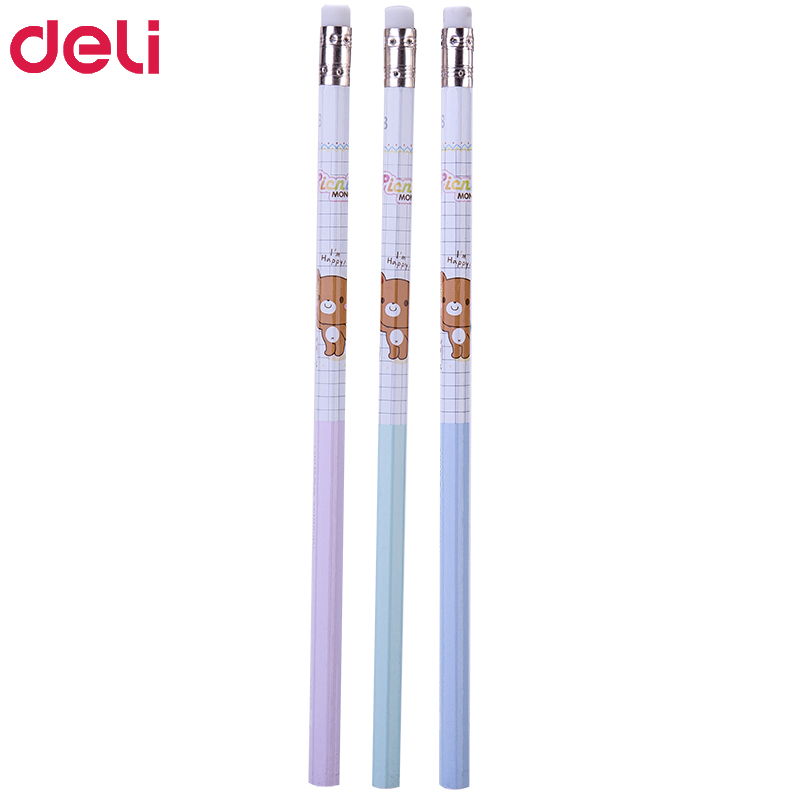 Image 5 - 72pcs kawaii wood pencils 2B HB cute rilakkuma pencil with erasers high quality pencil for school kids writing stationery giftStandard Pencils   -
