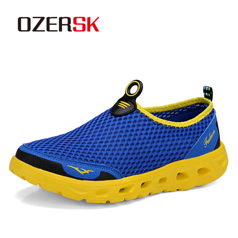 OZERSK Plus Size 39~48 Men Running Shoes New Arrival Brand Mesh Shoes High Quality Breathable Sneakers Lazy Summer Shoes MenOZERSK Plus Size 39~48 Men Running Shoes New Arrival Brand Mesh Shoes High Quality Breathable Sneakers Lazy Summer Shoes Men
