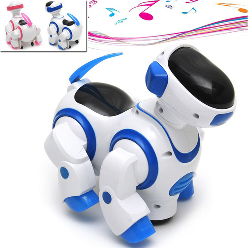 Kawaii Cartoon Intelligent Robot Dog Kids Puppy Pet Toys Funny Music Flash Walking Robot Toys For Children Gift