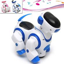 Kawaii Cartoon Intelligent Robot Dog Kids Puppy Pet Toys Funny Music Flash Walking Robot Toys For Children Gift