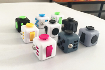 New Stress magic cube Toy A Vinyl Desk anti irritability to ease the pressure to focus dice cube box for girl boys  gift