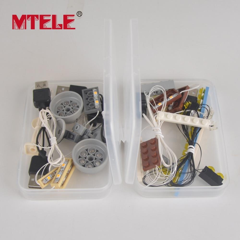 MTELE Brand LED Light Up Kit Untuk Pencipta City Street Palace Cinema - Mainan pembinaan - Foto 5