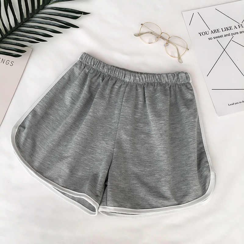 2019 einfache Frauen Casual Shorts Patchwork Körper Fitness Workout Sommer Shorts Weibliche Elastische Dünne dünne Strand Egde Kurze Heißer