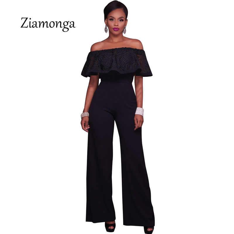 Zionga Летний комбинезон 2017 цельные брюки свободные широкие ноги сексуальный комбинезон женский s комбинезон женские длинные брюки комбинезоны для женщин