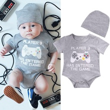 Cute Infant Newborn Baby Boy Girl Hat Bodysuit Jumpsuit Clothes Outfits 0-24Months