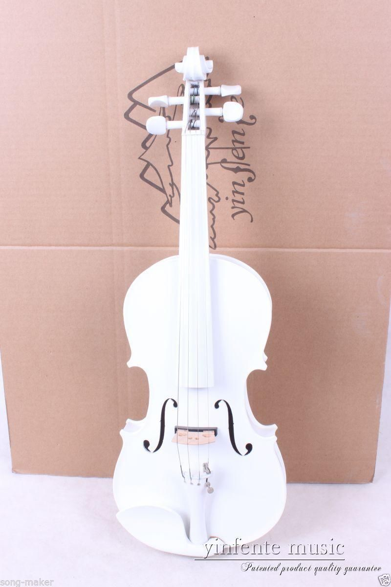 New 4/4 Electric Violin Powerful Sound High quality Nice Sound white #016 50 hanks high quality mongolia stallion white violin bow hair 6 grams hank white horse tails 32 inches