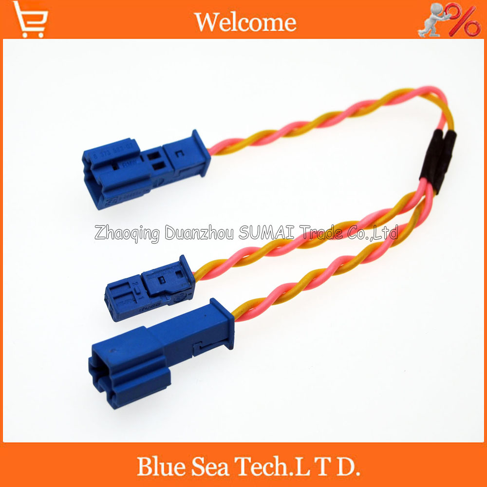 hight resolution of auto speaker stereo plug treble lossless harness with 13cm 2 cable for bmw x1 x3 x5 f18 f30 f20 car ect in connectors from lights lighting on
