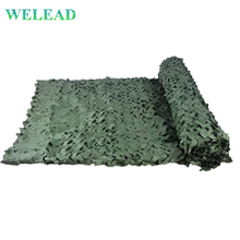 WELEAD Simple Green Camouflage Nets 3x3 2x3 1.5x5 Army Car Tent Camo Beach Tent Awning for Garden Sun Shelter Tarp Sunshade цены онлайн