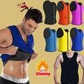 Espartilhos Cintura Para Homens Neoprene quente Shapers Quentes Corpo Shaper Slimming Vest Corsets Perda de Peso