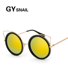 GYSnail Total Unique Retro Round Steampunk Sunglasses Women 2017 New Arrival Cat Eye Decorative Sun Glasses Top Quality Shades