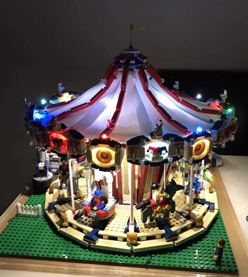 JULITE led light kit with battery box for lego 10196  and  15013 City Street Grand Carousel Model ( not include the carousel)JULITE led light kit with battery box for lego 10196  and  15013 City Street Grand Carousel Model ( not include the carousel)