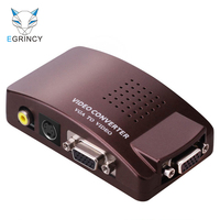 EGRINCY VGA To AV S-Video VGA Converter 1 in 3 out RCA Switch Adapter For Computer Laptop LCD Monitor Projector PC HDTV Display