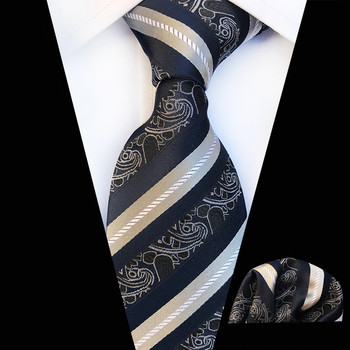 Striped Floral Pattern Multicolor Mens Tie Necktie Hanky Set 100% Silk New Jacquard Woven Fashions Mens Casual Dress Wedding