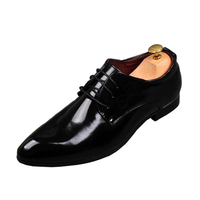 Korean Tie British Style Fashion Dress Male Pointed Shoes Leather Business Men S Casual Shoes Large