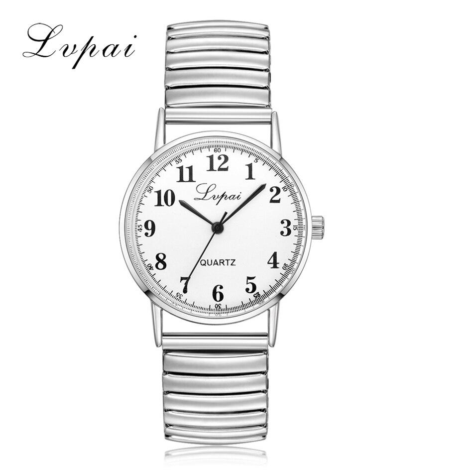 Lvpai New Arrive Brand Silver Lovers Watch Fashion Luxury Watch For Women Ladies Sport Casual Dress Quartz Watch Clock