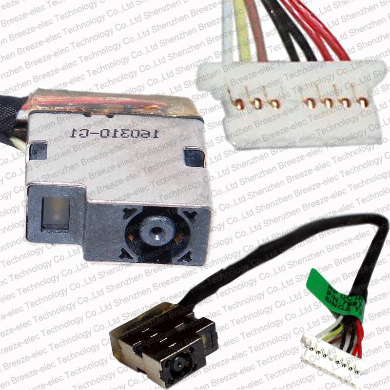 5 pieces/lot Original Laptop AV DC Power Jack socket cable for HP Pavilion 15-AC 15-AE 15-AC000 15-AC010NR 799736-F57 813945-001 100pcs lot new original dc power jack