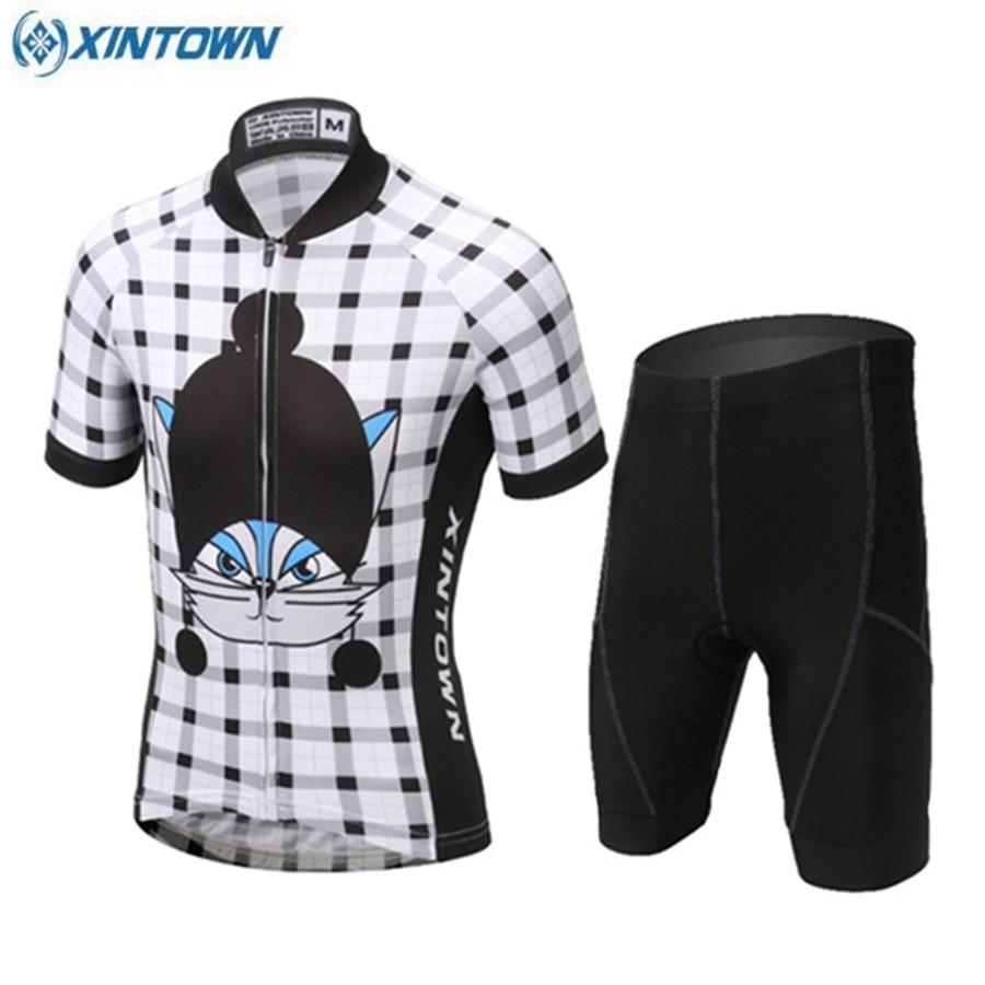 Детская Ciclismo Джерси и дети короткий рукав Xintown дышащий про MTB Велосипедный Спорт велосипед Garçons Meninas Ciclismo одежда езда носить