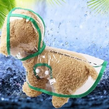 Pet Giorno di Pioggia Attrezzature di Viaggi Trasparente Pet Impermeabile Cane Da Compagnia Vestiti di Estate Piccolo impermeabile di modo per il Cucciolo di Outdoor 1
