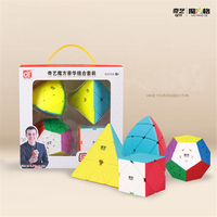 Qiyi Special Shaped Magic Cube Set Educational Toys for Brain Trainning Colorful