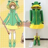 Anime Cardcaptor Sakura Clear Card Sakura Kinomoto frog Cosplay Costume adult outfit custom made