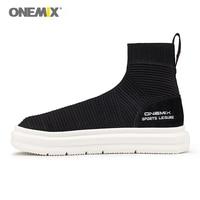 Onemix Sock Ankle Boots For Men Height Increasing Walking Shoes For Women Outdoor Trekking Sneakers Autumn