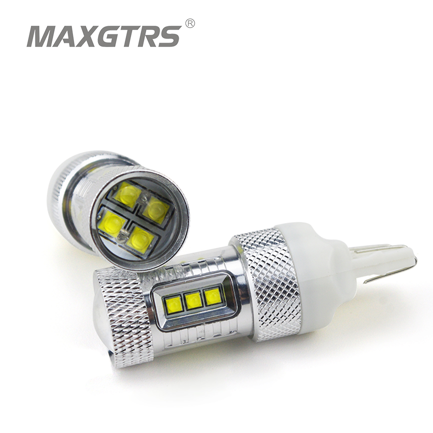 2x 80W CREE Chip T20 7440 W21W LED Bulbs For Car Reverse Lights Signal Backup DRL Lights DC12V-24V White/Red/Amber For Toyota 2x 3014 57smd chip t20 7443 7440 canbus error free bulbs led bulbs car reverse lights signal backup drl lights white red yellow