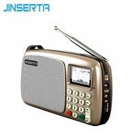 JINSERTA Mini Taşınabilir FM Radyo build-Hoparlörler MP3 Çalar LCD Ekran Destek TF kart Oynama LED El Feneri