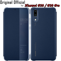 100 Original P20 Pro Cover For Huawei P20 Flip Case PU Leather Official Case For Huawei