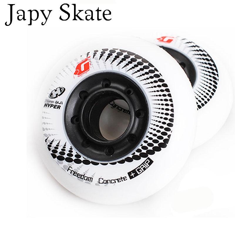 Japy Skate 8PCS 100 Original HYPER G Concrete Inline Skates Wheels Sliding Roller Wheels Slalom Free