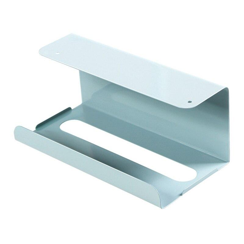 Держатель для туалетной бумаги шкаф висячий Тип подставка для туалетной бумаги коробка для салфеток шкаф Висячие съемные стойки бумажная Полка для полотенец - Цвет: Синий