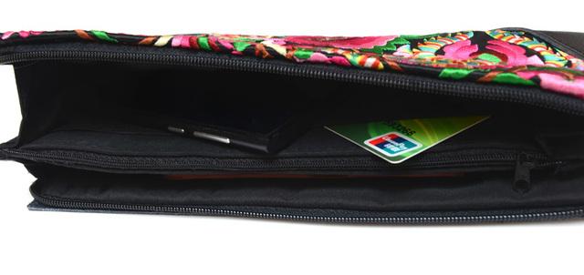 National Retro Embroidered Bag with Floral Design Wristlet Women Handbag Purse Elegant Handmade Day Clutch Bag Clutches wallet