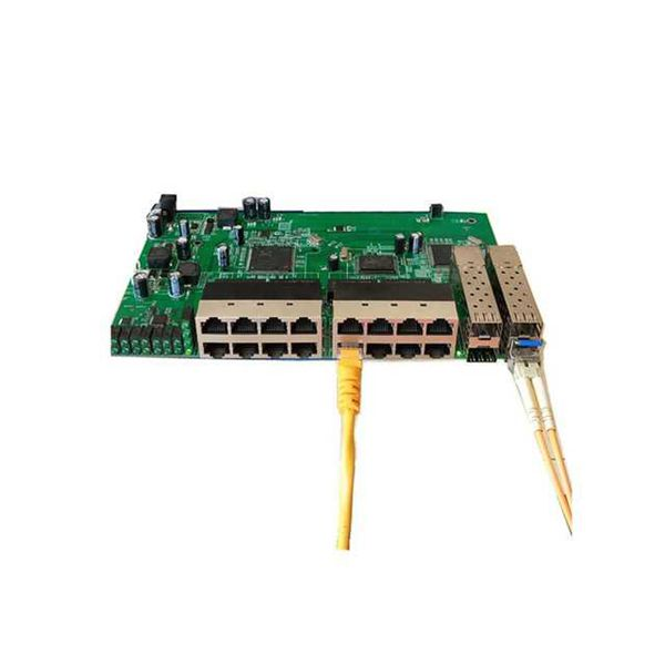 POE reverse Switch board with 16 ports FE 4 ports SFP