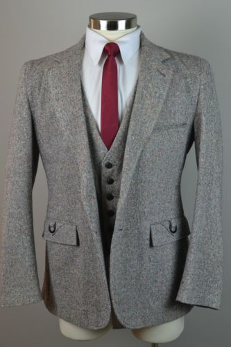 Latest Coat Pant Designs Gray Tweed Groom Tuxedos 3 Piece Mens