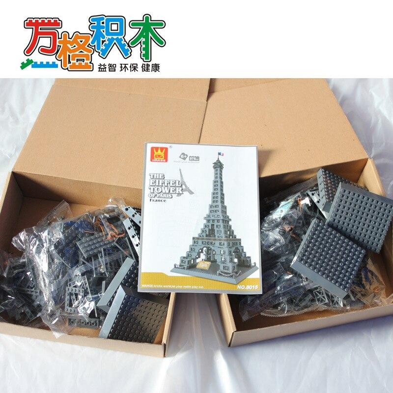 Famosa Arquitetura Da Série 978 pcs A Torre Eiffel 3D Tijolos de Blocos de Construção do Modelo Classic Toys Compatível com Legoed - 5