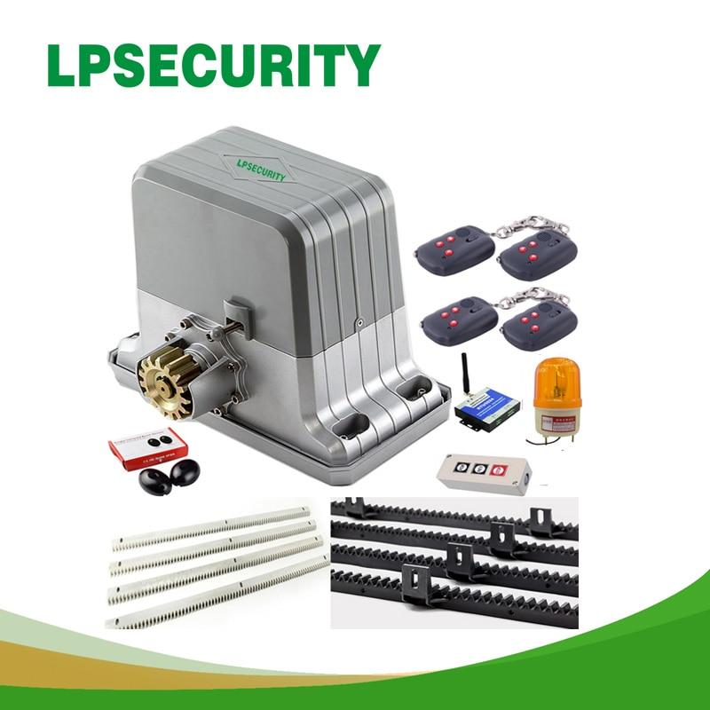 LPSECURITY 1800 кг 6 брелков автоматические GSM раздвижные ворота Двигатели/автоматические раздвижные ворота открывалка двигателя 6 м или 7 м стойки