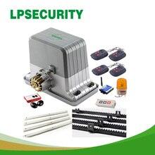 LPSECURITY 1800kg 6 portachiavi automatica GSM cancello scorrevole motori/automatico apri del cancello scorrevole motore 6m o 7m rack 1 photoccell