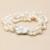 YouNoble real multilayer pulseira para as mulheres, branco pérola de água doce pérola jóias pulseira declaração de charme melhor presente de aniversário da menina