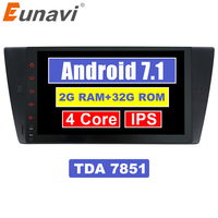 Eunavi 9 ''1 Din Android 7,1 Мультимедиа автомобилей Радио Стерео gps Navi MT на для BMW E90 E91 E92 E93 318 320 325 с canbus RDS Wi Fi