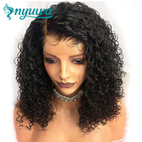 NYUWA 360 Lace Frontal Wigs Pre Plucked With Baby Hair Glueless Curly Lace Front Human Hair Wigs For Women Brazilian Remy Hair