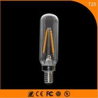 50 шт. 2 Вт E14 светодиодные лампы, T25 COB Винтаж Эдисон света, нити свет Ретро Лампа AC 220 В