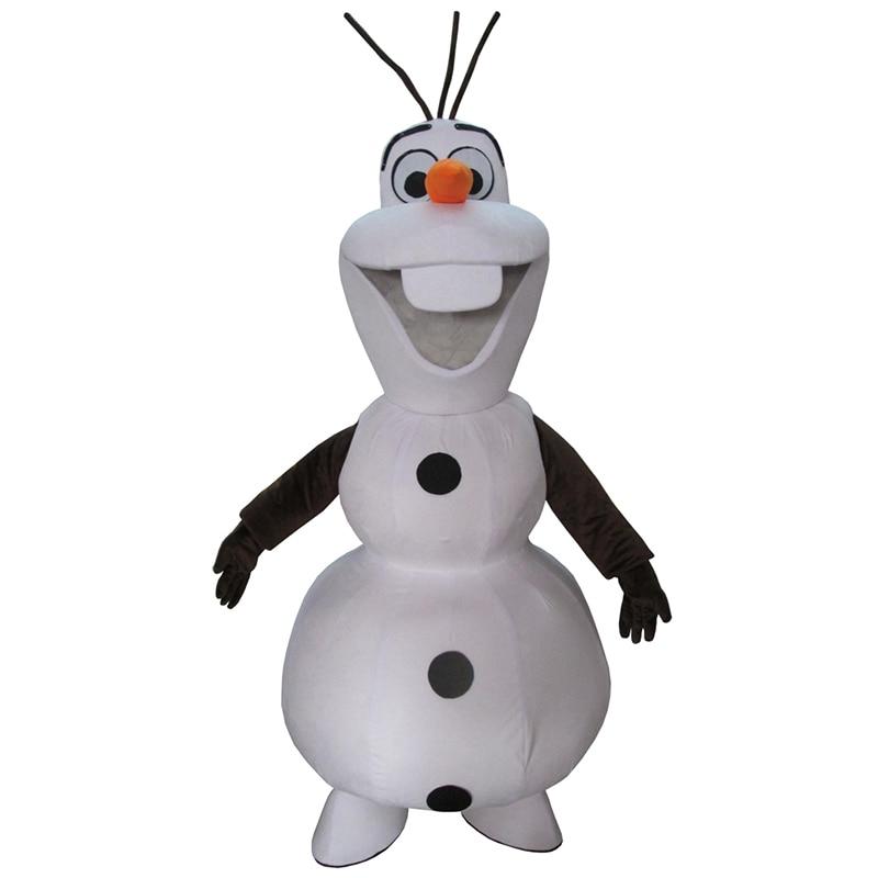 תחפושות cosplay סנומן אולף קמיע תלבושות למבוגרים גודל Olaf Mascot תלבושות